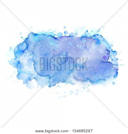 Light blue abstract watercolor blots