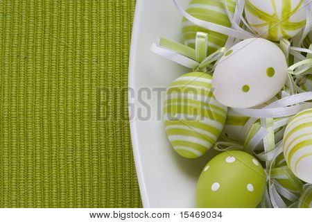 Colorful easter eggs for backgrounds