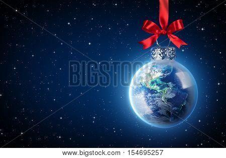 Peaceful Christmas All Over The World - Earth Ball