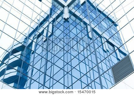Glass Surface Of Contemporary Angle Of Business Building