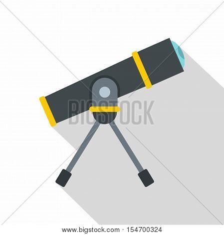 Telescope icon. Flat illustration of telescope vector icon for web isolated on white background