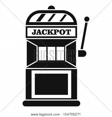 Gamble machine icon. Simple illustration of gamble machine vector icon for web