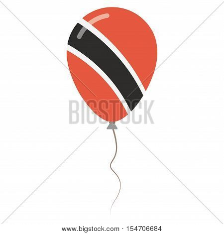 Republic Of Trinidad And Tobago National Colors Isolated Balloon On White Background. Independence D