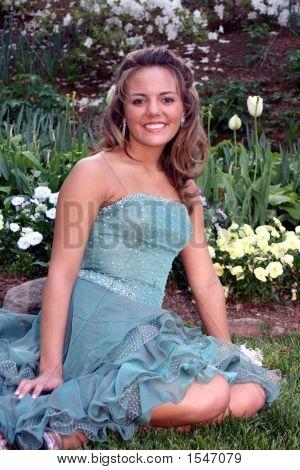 Beautiful Girl In Formal Wear