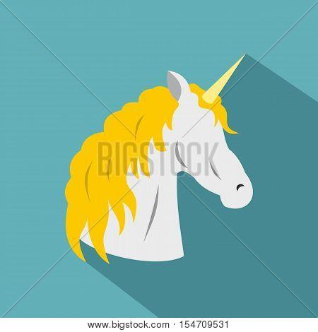 Unicorn icon. Flat illustration of unicorn vector icon for web