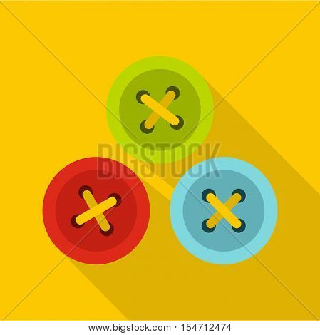 Buttons for sewing icon. Flat illustration of buttons for sewing vector icon for web