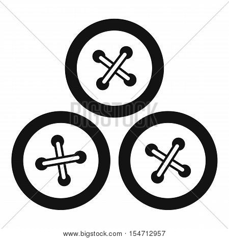 Buttons for sewing icon. Simple illustration of buttons for sewing vector icon for web