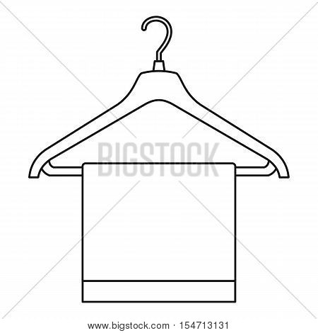 Hanger with cloth icon. Outline illustration of hanger with cloth vector icon for web