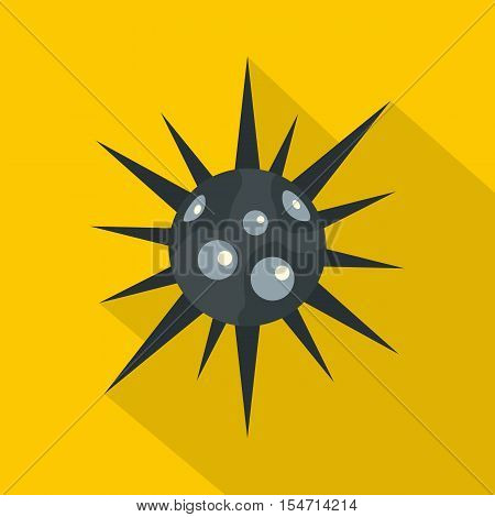 Round cell virus icon. Flat illustration of round cell virus vector icon for web