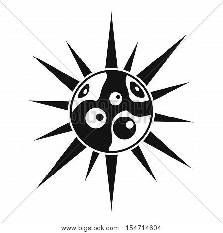 Round cell virus icon. Simple illustration of round cell virus vector icon for web