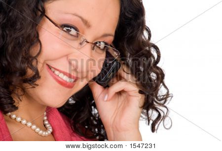 Business Woman On The Phone - Close Up
