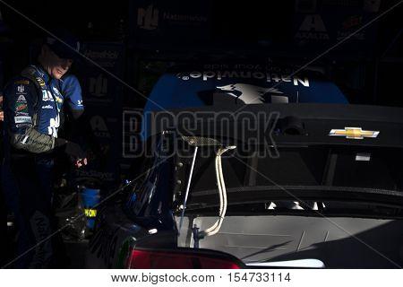 Martinsville, VA - Oct 28, 2016: Jeff Gordon (88) gets ready to qualify for the Goody's Fast Relief 500 at Martinsville Speedway in Martinsville, VA.