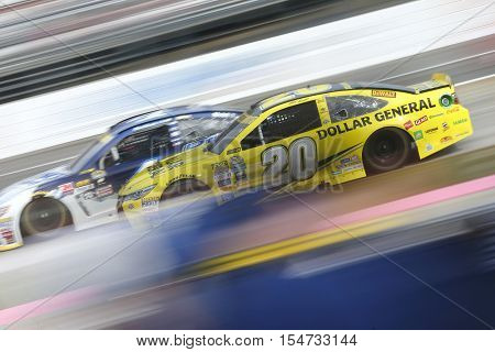 Martinsville, VA - Oct 30, 2016: Matt Kenseth (20) races for the Goody's Fast Relief 500 at Martinsville Speedway in Martinsville, VA.