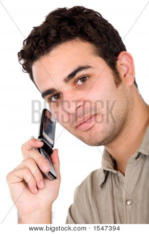 Business Man On A Cellphone