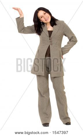 Business Woman Leaning On Something