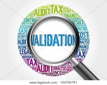 Validation Word Cloud With Magnifying Glass