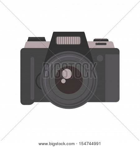 Camera photography equipment lens technology photographic instrument device. Digital photo camera vector photograph equipment. Photographer optical camera professional digital photo lens technology.