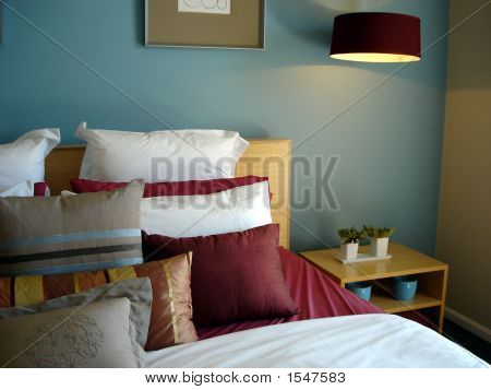 Blue Bedroom Closeup
