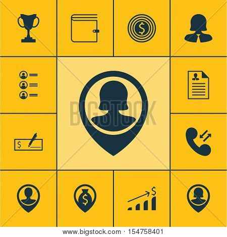 Set Of Hr Icons On Pin Employee, Business Woman And Job Applicants Topics. Editable Vector Illustrat