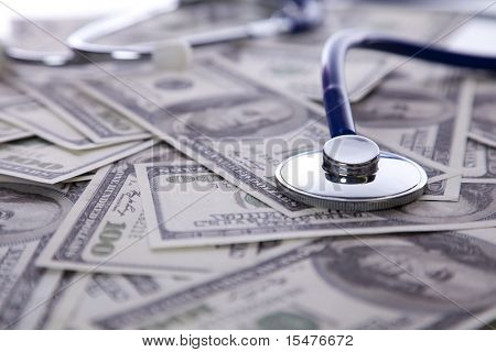High cost for a good health care service (selective focus)