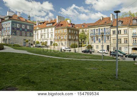 Old Houses at Nowe Miasto (new town) Warsaw Polandwarszawa