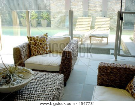 Entertaining Area With Pool