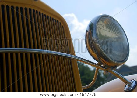 Grille On A School Bus