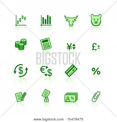 green finance icons
