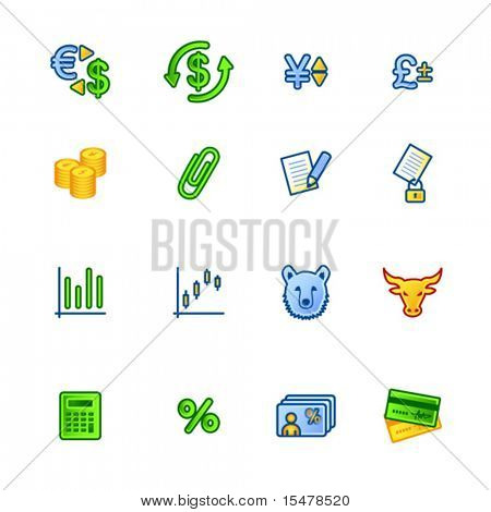 colorful finance icons