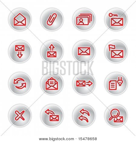 red e-mail icons
