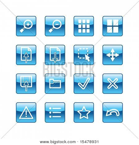 blue aqua image viewer icons (raster)