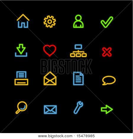 neon basic web icons (raster)