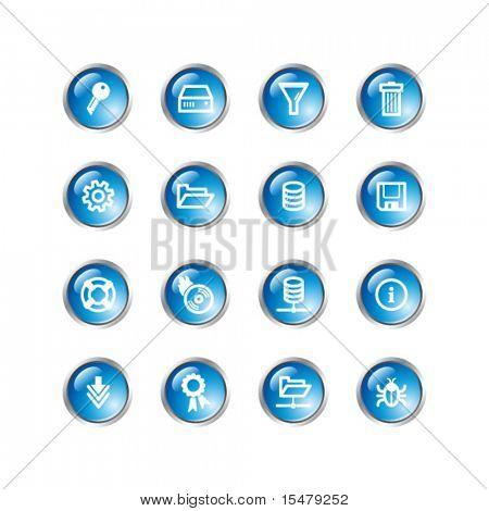 blue drop server icons
