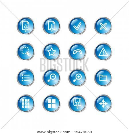 blue drop image viewer icons