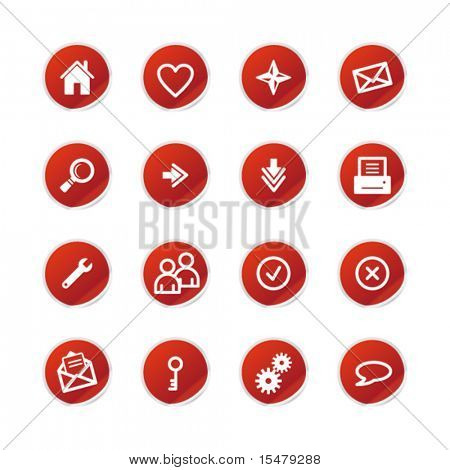 red sticker web icons