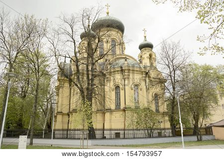 A church in the city of Warsaw Poland