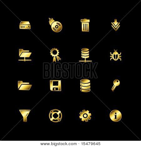 Gold server icons