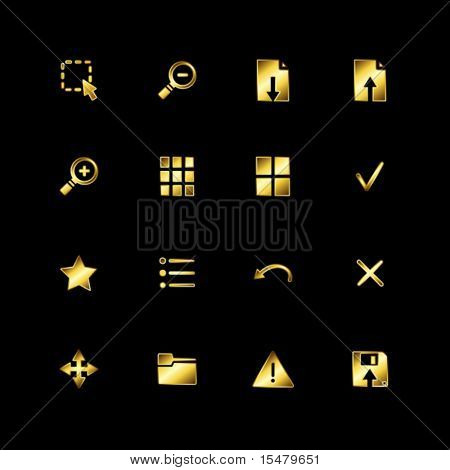 Gold image viewer icons