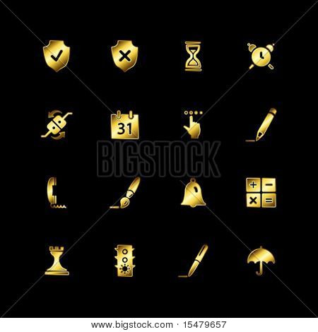 Gold software icons