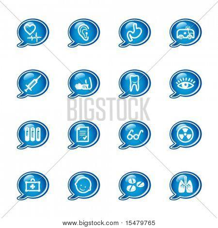 Blase-Medizin-Symbole