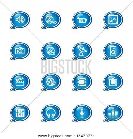 bubble media icons