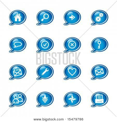 bubble web icons