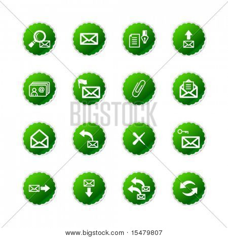 green sticker e-mail icons