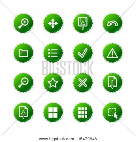 green sticker viewer icons