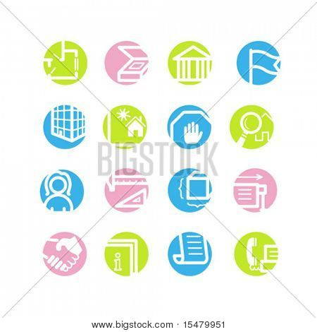 spring circle building icons