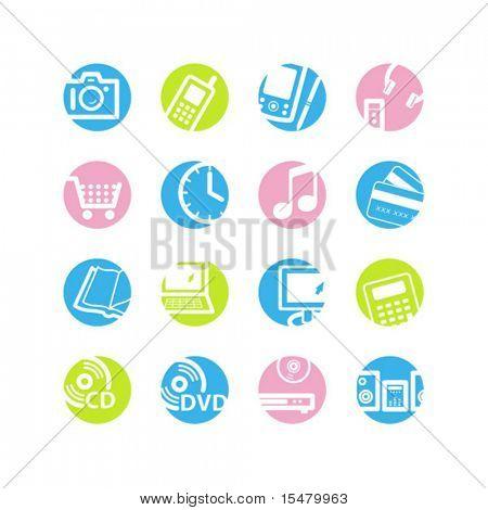 spring circle e-shop icons