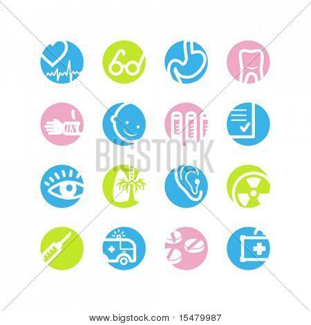 ícones de medicina de círculo de Primavera