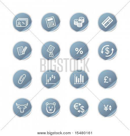blue sticker finance icons