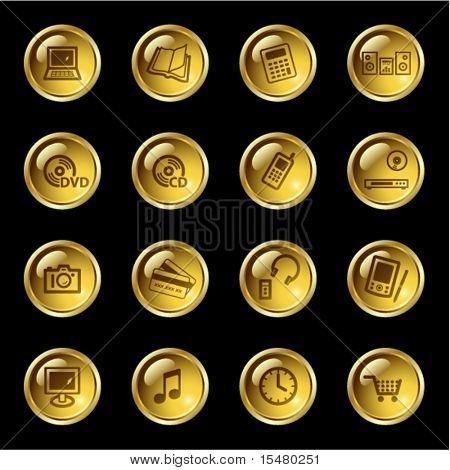 Gold Drop-Elektronik-Symbole