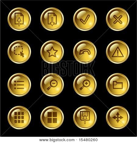 Gold drop image viewer icons